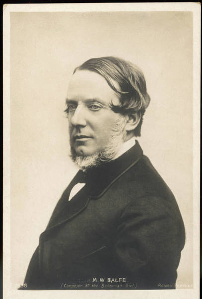 William And Mary Photograph - Michael William Balfe  Irish Composer by Mary Evans Picture Library
