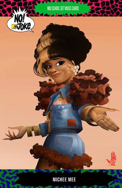 Digital Art - Michee Mee Ntv Card by Nelson Dedos Garcia