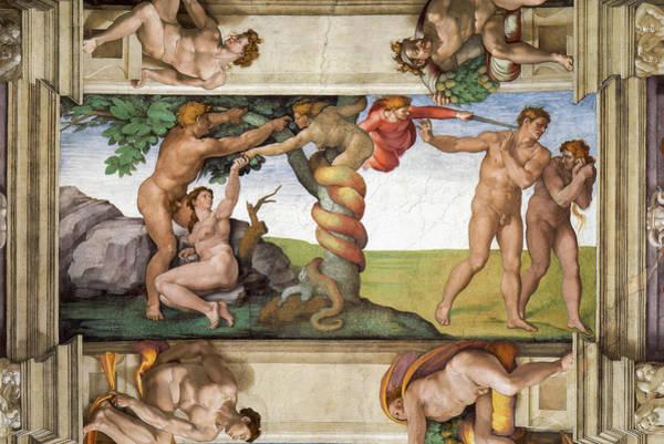 Wall Art - Painting - Michelangelo Adam & Eve by Granger