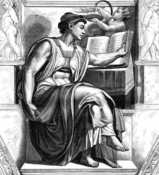 Sistine Wall Art - Photograph - Michelangelo's 'sibyl Of Erythrae' by Collection Abecasis/science Photo Library