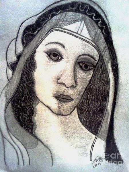 Drawing - Michelangelo's Woman by Neil Stuart Coffey