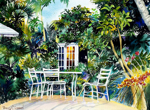 Painting - Michelle And Scott's Key West Garden by Phyllis London
