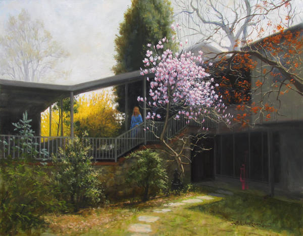 Forsythia Painting - Michelle by David Henderson