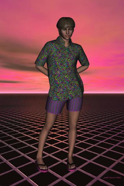Digital Art - Michelle On A Grid by Judi Suni Hall