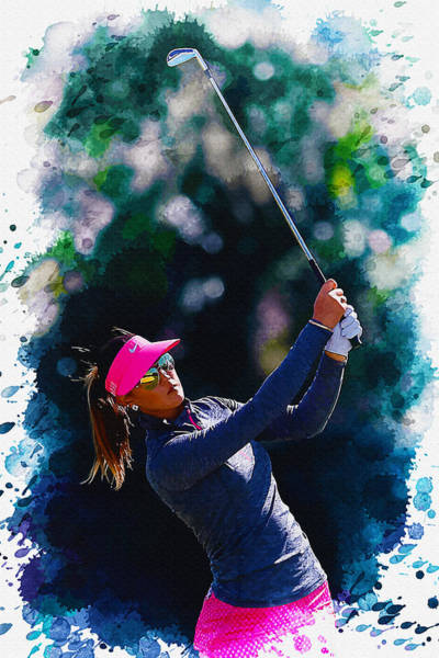 British Open Digital Art - Michelle Wie - The Coates Golf Championship by Don Kuing