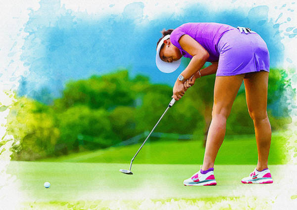 British Open Digital Art - Michelle Wie - The Lpga Lotte Championship by Don Kuing
