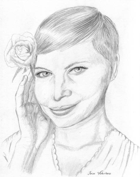 Drawing - Michelle Williams by M Valeriano