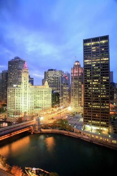 Chicago Tribune Wall Art - Photograph - Michigan Avenue, Chicago by Hisham Ibrahim