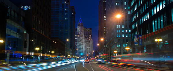 Aves Photograph - Michigan Avenue Chicago by Steve Gadomski