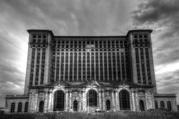 Photograph - Michigan Central Station Bw by Jonathan Davison