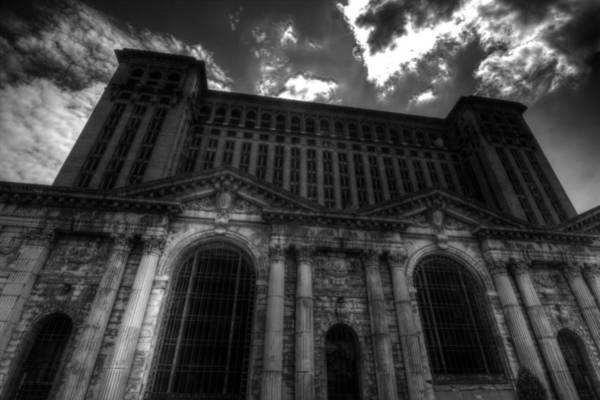 Photograph - Michigan Central Station Highrise by Jonathan Davison