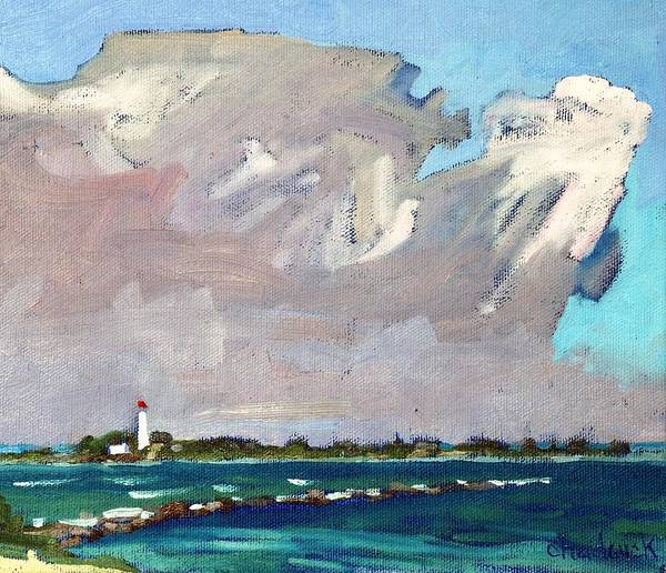 Lake Huron Painting - Michigan Convection by Phil Chadwick