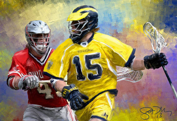 Lax Painting - College Lacrosse 4 by Scott Melby