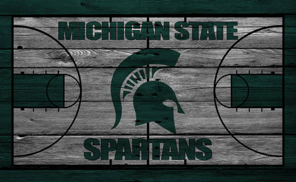 Court Photograph - Michigan State Spartans by Joe Hamilton