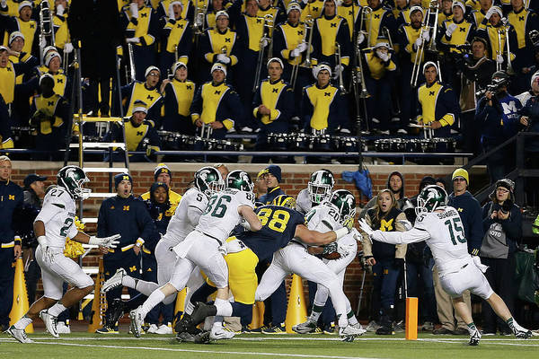 Arbor Photograph - Michigan State V Michigan by Christian Petersen