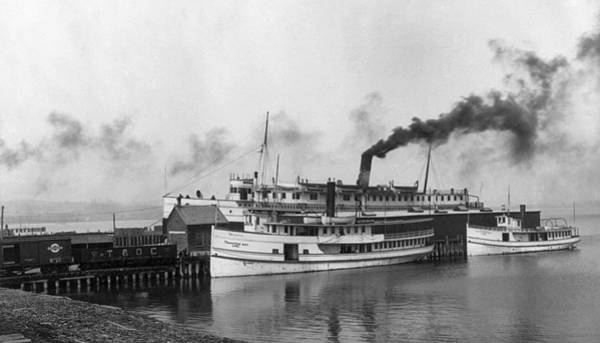 Dock Of The Bay Photograph - Michigan Steamboats, C1903 by Granger