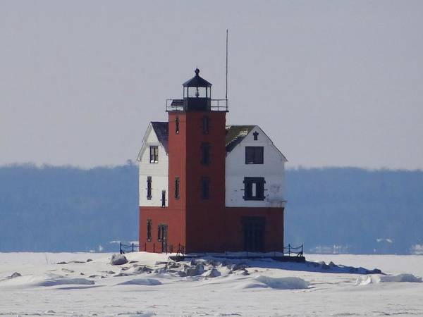 Photograph - Michigan's Round Island Lighthouse by Keith Stokes