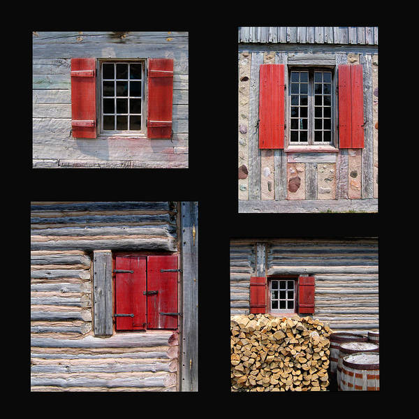 Michilimackinac Wall Art - Photograph - Michilimackinac Windows 3 by Mary Bedy