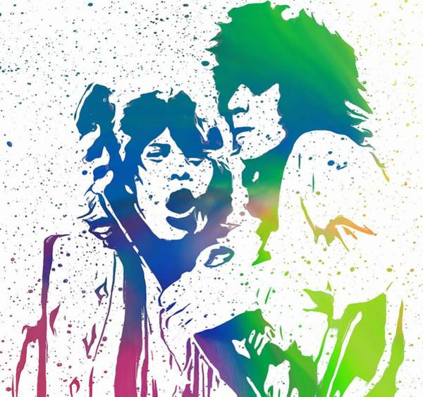 Digital Art - Mick Jagger And Keith Richards by Dan Sproul