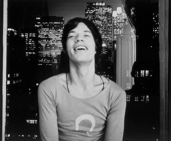 New York State Photograph - Mick Jagger Laughing by Cecil Beaton