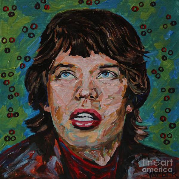 Frontman Wall Art - Painting - Mick Jagger Portrait by Robert Yaeger