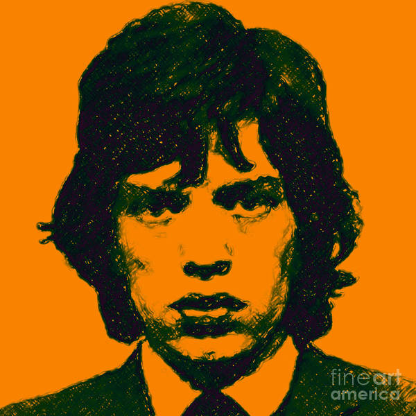 Photograph - Mick Jagger Square by Wingsdomain Art and Photography