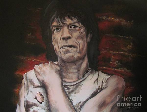 Painting - Mick Jagger - Street Fighting Man by Eric Dee