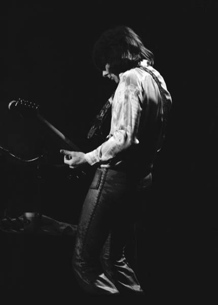 Photograph - Mick Playing Guitar In 1977 by Ben Upham
