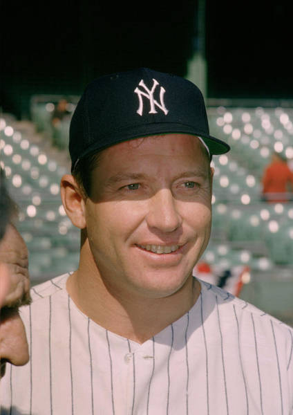 Baseball Hall Of Fame Photograph - Mickey Mantle Famous Smile by Retro Images Archive
