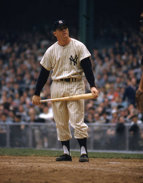 Mickey Mantle Wall Art - Photograph - Mickey Mantle In Yankee Stadium by Retro Images Archive