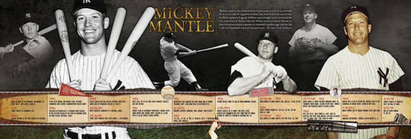 High School Photograph - Mickey Mantle Timeline Panoramic by Retro Images Archive