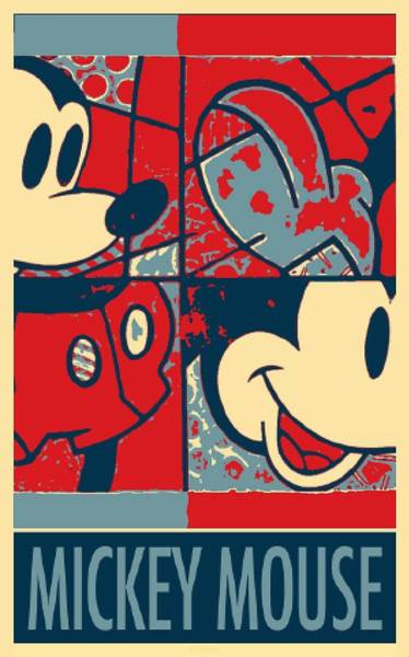 Walt Disney Word Photograph - Mickey Mouse In Hope by Rob Hans