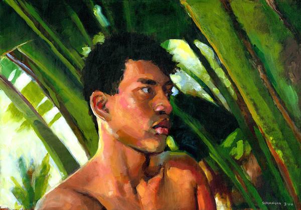 Native Garden Wall Art - Painting - Micronesia by Douglas Simonson