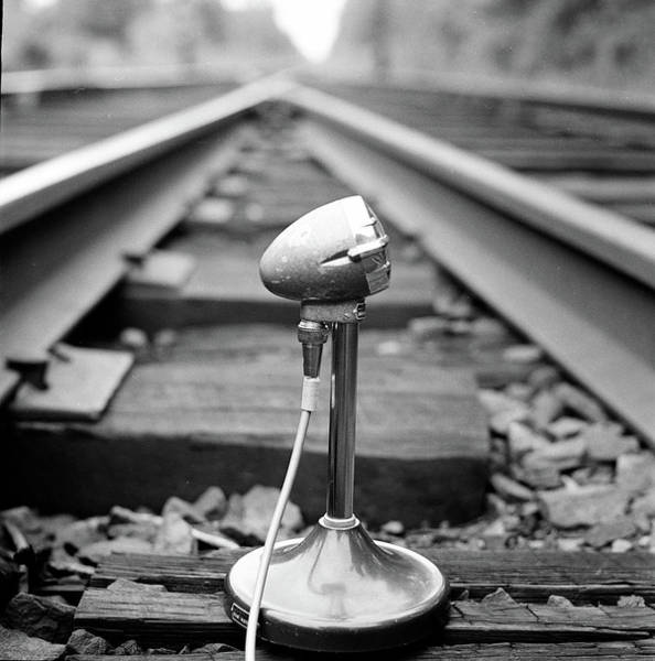 Train Track Photograph - Microphone On Train Tracks by Richard Rutledge