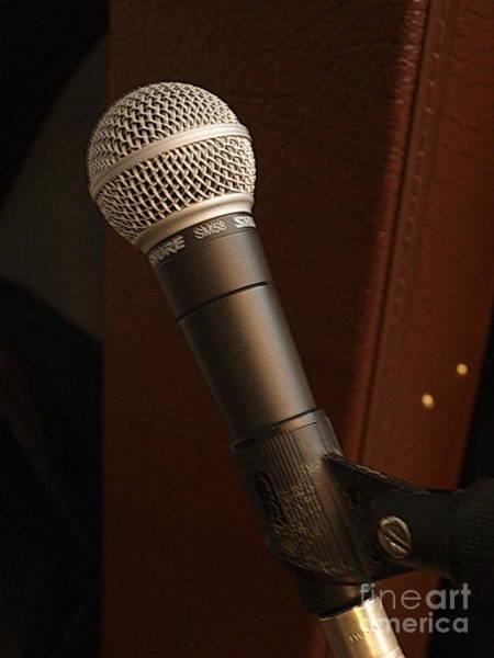 Photograph - Microphone by Vivian Martin