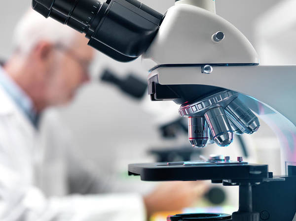 Lenses Photograph - Microscope Laboratory by Tek Image