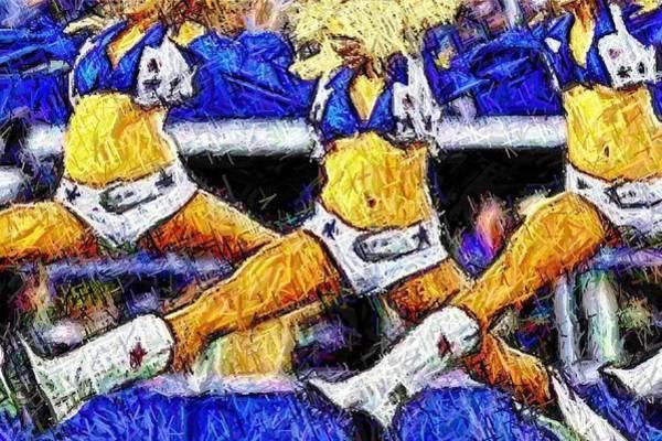 Cheerleaders Digital Art - Mid Air Splits by Carrie OBrien Sibley