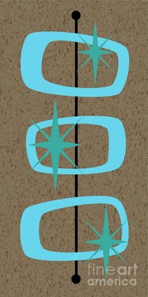 Digital Art - Mid Century Modern Shapes 1 by Donna Mibus
