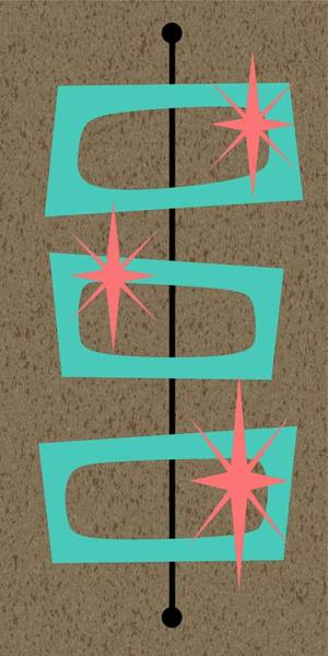 Digital Art - Mid Century Modern Shapes 9 by Donna Mibus