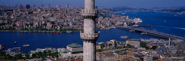Bosphorus Bridge Photograph - Mid Section View Of A Minaret by Panoramic Images