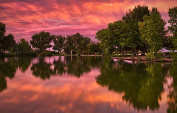 Mid Summers Sunset Art Print