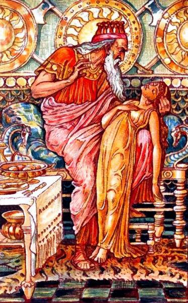 Daughter Digital Art - Midas Turns His Daughter To Gold by Walter Crane