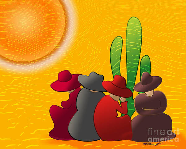 Sombrero Painting - Midday Siesta by Methune Hively