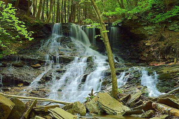 Sullivan County Photograph - Middle Branch Falls Lower Tier #1 by Joel E Blyler