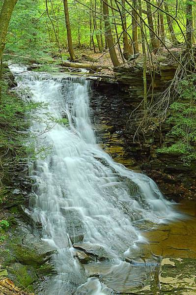 Sullivan County Photograph - Middle Branch Falls Upper Tier #1 by Joel E Blyler