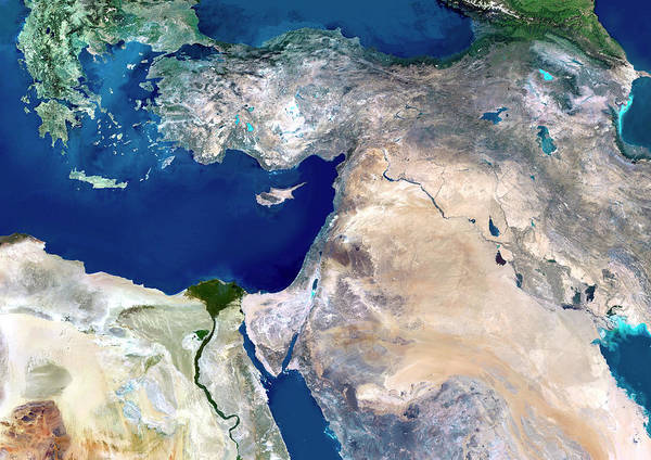 Wall Art - Photograph - Middle East by Planetobserver/science Photo Library