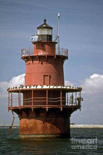Virginia Lighthouse Photograph - Middle Ground Lighthouse by Skip Willits