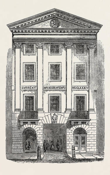 Wall Art - Drawing - Middle Temple Gate, Fleet Street, London by English School