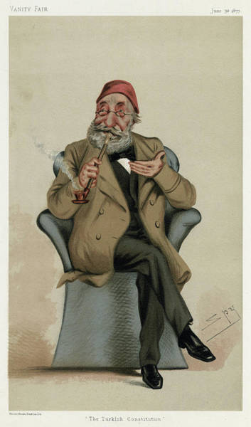 Wall Art - Drawing - Midhat Pasha  Ottoman Politician by Mary Evans Picture Library
