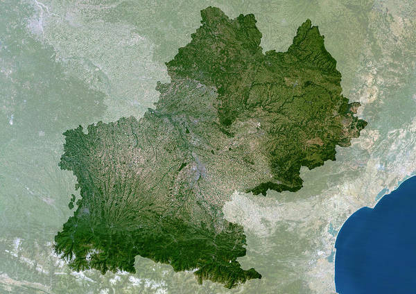 Pyrenees Photograph - Midi-pyrenees Region by Planetobserver/science Photo Library
